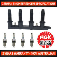 4x Genuine NGK Platinum Spark Plugs & 1x Ignition Coil for Holden Cruze JH SRi