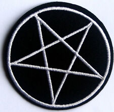 Pentagram Embroidered Iron Sew On Patch Heavy Metal Motley Crue Biker