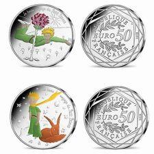 Petit Prince France pièce de 50 euros 2016 COLORISEE.Vague 1 et 2 Rose et Renard