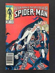 SPECTACULAR SPIDER-MAN #95  MARVEL COMICS 1984 VF NEWSSTAND