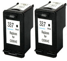 2 Non-OEM Replaces Fit For HP 337 Photosmart C4160 C4180 Black Ink Cartridges