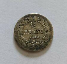 1/2 franc Leopold I 1843 (364.000 exp.)