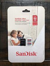 Sandisk  Ultra MicroSDXC UHS-I 2-Pack W/ adapter sdsqunc-064g-Aulmt