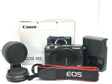 Canon EOS M6 24.2MP Digital Camera w/Two types of mount adapters From Japan #708