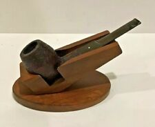 DUNHILL Shell Briar, ODA #837, Bulldog Smoking Estate Pipe With Stand Decatur