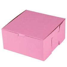 25 CUPCAKE Bakery Box PINK with INSERTS Holds 4 Each 8x8x4 for 100 Cupcakes