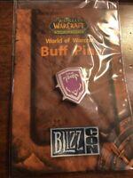 World Of Warcraft 2007 Blizzcon Buff Pin DEMON ARMOR SKIN MagentaShield Blizzard