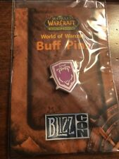 World Of Warcraft 2007 Blizzcon Buff Pin DEMON ARMOR SKIN MagentaShield Blizzard