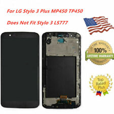 Replacement For LG Stylo 3 Plus MP450 TP450 LCD Touch Screen Digitizer Frame USA