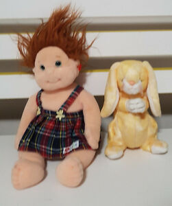 TY GEAR TY BEANIE GINGER AND GRACE BUNNY RABBIT PLUSH TOY! SOFT TOY KIDS TOY!