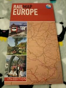 Rail Map Of Europe By Thomas Cook 17th Edition