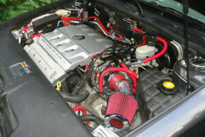 Short Ram Air Intake Kit + RED Filter for 98-04 Cadillac Seville SLS/STS 4.6L V8