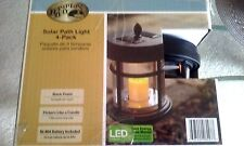 Hampton Bay Candle Solar Path Lights Black Finish Set Of 4 Per Box New