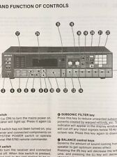 Sony STR-AV460 Stereo Receiver Original Owners Manual 22 Pages strav460