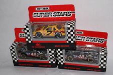 SET OF 3 MATCHBOX RACING SUPERSTARS, MAC TOOLS, CAPPIO RACING X2, BOXED