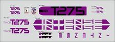 INTENSE TRACER T275 CUSTOM MADE FRAME DECAL SET PURPLE