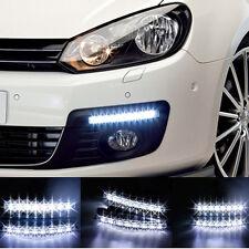 2X 8 LED Daytime Running Lights Car Driving DRL Fog Lamp Light Super White 12V