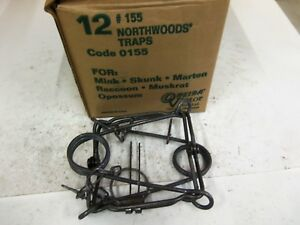 Oneida Victor #155 Northwoods Body Grip Traps Trapping Coyote Bobcat NOS