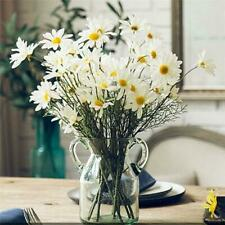 5 Heads Artificial White Daisy Fake Flower Bouquet For Wedding Party Home Decor