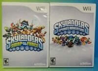 Skylanders 2 Game Lot Swap Force & Spyro's Adventure Nintendo Wii Wii U Tested