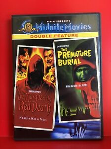 DVD : MGM Midnite Movies : MASQUE of the RED DEATH / PREMATURE BURIAL - Region 1