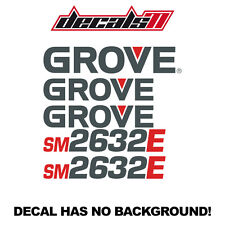 Grove Sm2632E Lift Set Vinyl Decal Sticker Aftermarket