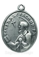 ST. FRANCIS / OUR LADY OF THE ROSARY Medal, silver from c. 1860 Mexican original