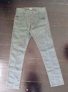 men's DIESEL pants size 29 fitted style 100% cotton khaki EXCELLENT CONDITION