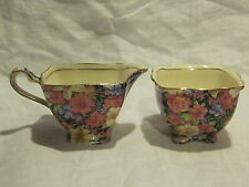 Royal Winton Florence Chintz Creamer & Sugar