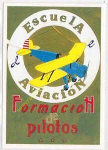 Reproducción Antigua Publicidad Escuela of Aviación