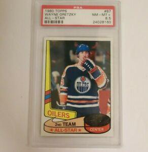 1980 Topps  Hockey Wayne Gretzky ALL-STAR #87 PSA 8.5