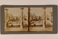 Italia Pompei Foto Stereo Vintage Citrato c1900