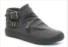 Blowfish Mondo boots ankle charcoal gray flannel sz 9 Med NEW