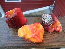 New listing Glass Rock Slag Pretty Red/Orange/Yellow 2.6 lbs Ww58 lbs Rocks Landscaping Aqua