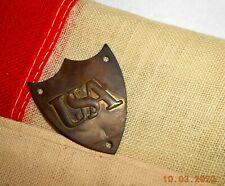 Original Usa Shield 1861 Civil War Saddle Shield Ill Fated Allegheny Us Arsenal