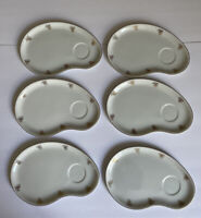 Fukagawa ARITA Lot of 6 Snack Coffee Tea Plates Flowers Roses Japan