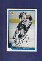 Chris Gratton **Autograph** 1993-94 Upper Deck UD Hockey #78 Tampa Bay Lightning