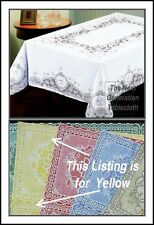 #026 Protects Table  60X90-Yellow-Oblong 3-G Process Vinyl Lace Dryer safe