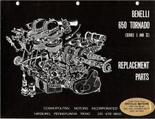 Benelli 650 twin cylinder Tornado illustrated part book