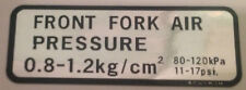 HONDA GL500 SILVER WING FORK AIR PRESSURE CAUTION WARNING LABEL DECALS
