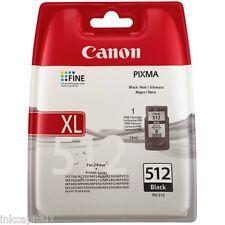 1 x Canon Original OEM PG-512, PG512 Black Inkjet Cartridge For MP280