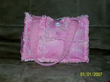 KU Kansas Pink Rag Quilt Diaper Bag Tote Purse Hand Crafted