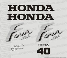 Adesivi motore marino fuoribordo Honda 40 cv carburatori gommone barca stickers