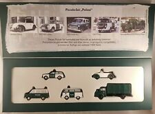 "Schuco piccolo Set ""Polizei"" VW Käfer + T2 + 1550,Ford Transit,MB L322  - 05814"