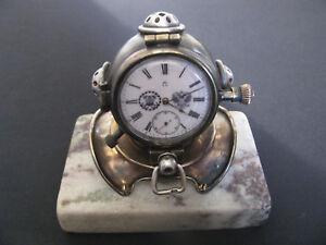 VINTAGE OMEGA TABLE DESK CLOCK DIVER MARINE RUSSIAN MARKET