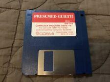 "PRESUMED GUILTY IBM PC 3.5"" FLOPPY COSMI GAMES DISK ONLY"