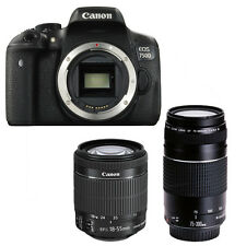 Canon EOS 750d + Canon Ef-s 18-55mm is stm + Canon EF 75-300mm III Neuf/New