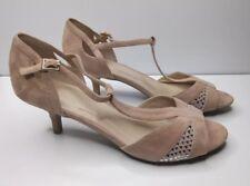 M&S Wide Fit Suede Kitten Heel Buckle SANDALS UK SIZE 7.5 rrp £35