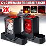 2x 12/24V LED Side Rear Marker Outline Light Indicator Rubber Car Truck Trailer