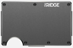 The Ridge Slim Minimalist Money Clip RFID Blocking Aluminum - Gunmetal Wallet